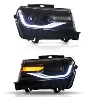 For Chevrolet Chevy Camaro LED Projector Headlight Lamp LS LT SS 2014-2015 Pair