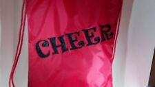 Cheer Bags | Liberty Drawstring | Red Glitter Cheer Design | 20L x 17W