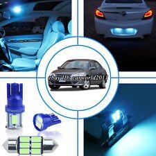 12x Aqua Blue LED Interior Light Package Kit For Honda Civic Coupe&Sedan 2001-05