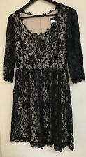 TIANA B QVC Black Lace Dress Size 12 Party Races Wedding Cruise Christening