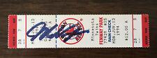 Mo Vaughn Signed Boston Red Sox Full Ticket June 13 1994 Fenway Park