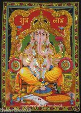 Indian Good Luck Tapestry Lord Ganesh Wall Hanging 30*40 hippy Ganpati hippie