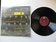 """Beethoven Nos 2 &4 12"""" Lp NBC Toscanini RCA red Seal LM - 1723 Germany 1951"""