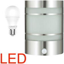 LED Wandlampe Bewegungsmelder Sensor Edelstahl Aussenleuchte Aussenlampe 9 Watt
