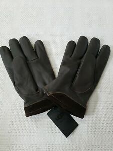 Ugg Mens Brown Leather Captain Gloves Size M New With Tags