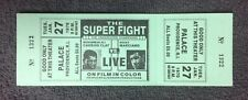 1970 RARE Vintage Muhammad Ali vs Rocky Marciano SUPERFIGHT Full Boxing Ticket