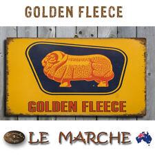 GOLDEN FLEECE Vintage Style Wooden Rustic Plaque / Sign FREE POST 🛢️