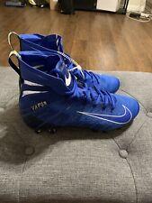 Nike Vapor Untouchable 3 Elite Size 9.5 Royal Blue Football Cleat AH7408-401