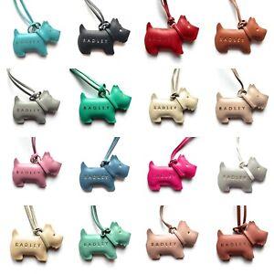 Genuine Radley Leather Dog Tag Handbag Charm - Choose Colour