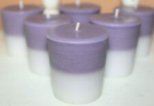 COTTON AND IRIS Scented Votive Candles Set of 6 - Clean Floral Fresh Laundry