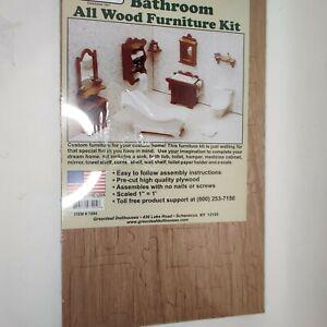 """Bathroom Dollhouse Furniture Kit - Scaled 1"""" = 1' by Greenleaf Dollhouses"""