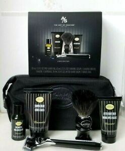 The Art of Shaving UNSCENTED Travel Kit: Shave Cream, Brush, Pre-Shave Oil, Balm