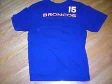 NFL, Reebok, Denver Broncos, #15, Tim Tebow, team logo tee, youth large, vg c
