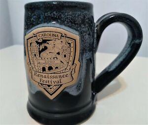 Grey Fox Pottery Carolina Renaissance Festival 2010 Mini Mug 4 oz