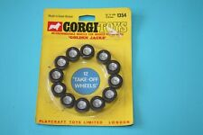 Vintage 1960s Corgi Toys 1354 Golden Jacks  Carded set of 12 take off wheels.