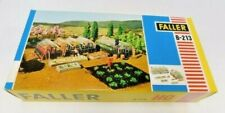 FALLER B-213, HO SCALE, GREEN HOUSES & SMALL GARDEN, SEALED IN BAG, MIB