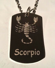 Zodiac Signs Sign Scorpio Scorpion Logo Dog Tag Metal Chain Necklace Fashion New