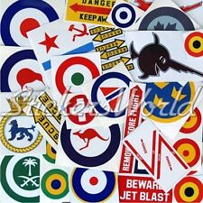 30+ Aviation Military AirForce Army Navy Clearance & 2nd Quality Stickers Decals