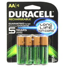 4x Duracell AA Rechargeable Battery 2500mAh NiMH 1.2V 5yr Guarantee + 50% better