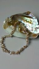 """Beautiful Cultured Keshi Pearl Necklace. 16"""" Sterling Silver Clasp.New in box"""