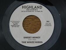 """WHIZZ KIDDS SWEET HONEY / BIG TEASER HIGHLAND orig GARAGE ROCK R&B PSYCH 7"""" 45"""