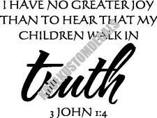 Children Walk In Truth Interior Home Vinyl Decal R009
