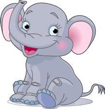 Sticker enfant Bébé éléphant hauteur 100cm réf 206