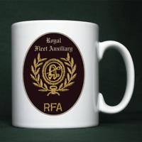 Royal Fleet Auxiliary - CPO(D) Badge - Personalised Mug