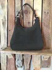 LAUREN RALPH LAUREN  Women's Shoulder bag SUEDE LEATHER D.GRN. w/  BROWN
