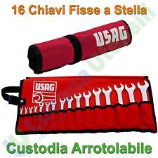 Serie Set 16 Chiavi Combinate Fisse a Stella USAG Poligonali Forchetta 285 J/B16
