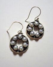Ohrringe mit Süßwasser Perlen, 925er Silber - Perle - Süßwasserperle -