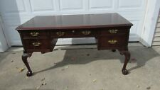 Hekman Chippendale Claw Desk Mahogany Leather Top