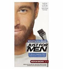 Just For Men Moustache & Beard Brush-In Colour Gel, Medium Brown