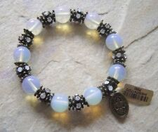 KONPLOTT Bracelet Ceramics crystal white multi / antique bronze
