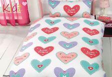 Cœurs Sweet Dreams à Pois Rose Bleu Mélange de Coton Simple 3 Pièces
