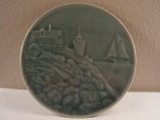 EDGECOMB POTTERS Bass Harbor Light ART POTTERY Celadon Glaze TRIVET Hot Plate