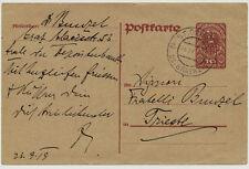 1919 AUSLANDSKARTE, ST.OSWALD bei GRATWEIN nach TRIESTE