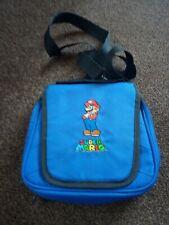 SUPER MARIO Bleu Nintendo DS étui de transport/sac avec bandoulière GC