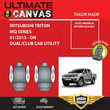 CANVAS Seat Covers for Mitsubishi Triton MQ Series Dual Cab 01/2015 - On Fronts