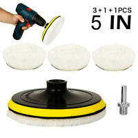 5Pcs/set 5inch Buffing Polishing Pads Wool Wheel Mop Kit For Auto Car Polisher