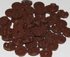 Lego Lot of 50 New Reddish Brown Tiles Round 2 x 2 with Open Stud Pieces Parts