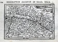 ALSACE, BASEL,MULHOUSE,STRASBOURG,GERMANY,FRANCE, BERTIUS orig. antique map 1618