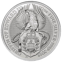 2018 U.K. 10 Pound Silver Queen's Beast The Griffin .9999 10 oz BU in Capsule