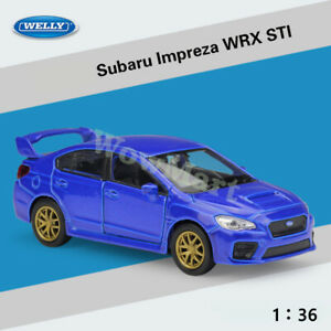 WELLY 1:36 Subaru Impreza WRX STI Diecast Car Model Collection Pull Back Toy
