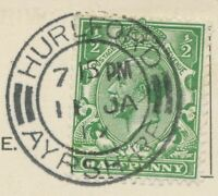 "2463 SCOTTISH VILLAGE POSTMARKS ""HURLFORD / AYRSHIRE"" extremely rare superb 1917"