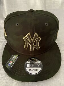 New Era New York Yankees USA Armed Forces Camo 950 9FIFTY Snapback Cap Hat NEW