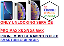 (BLACKLIST SUPPORTED) IPHONE XR XS Xs Max unlocking Service from EE T MOBILE