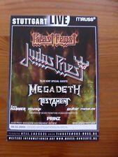 JUDAS PRIEST 3 official flyers / handbills Europe 2005-2009 dbl-sided METALLICA