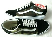 Vans Mens Old Skool Black Woodland Camo Canvas Suede Skate shoes Size 9.5 NWT