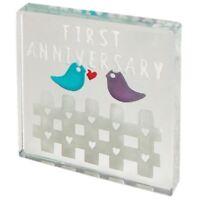 Spaceform Glass Minature Token First Wedding Anniversary 1st Year Keepsake Gift